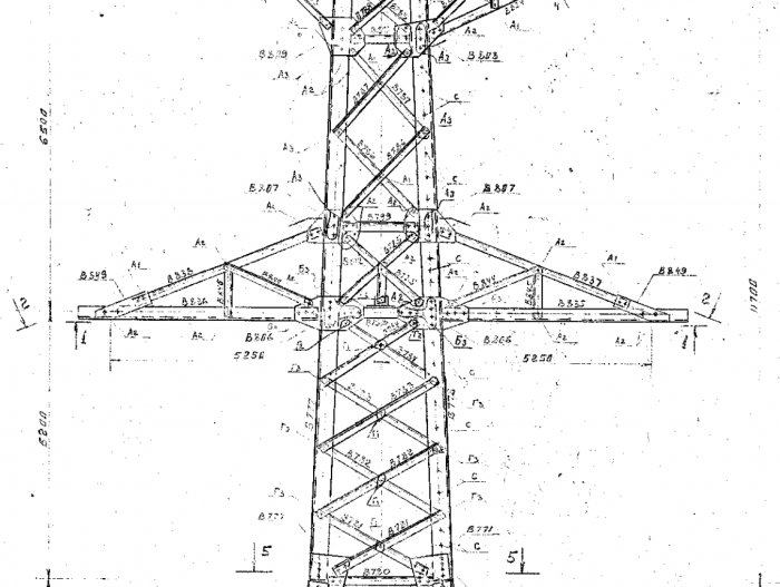 electric power transmission towers