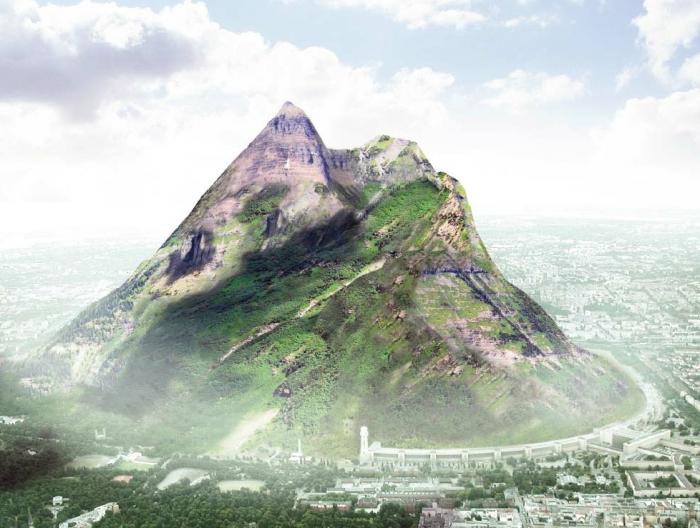 несуществующая гора в берлине, созданная для привлечения внимания медиа - http://www.the-berg.de/